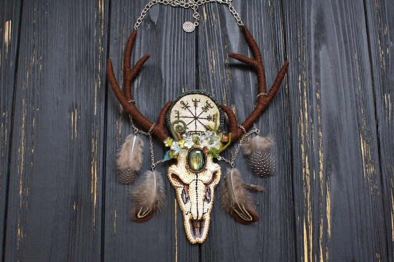 The Horned One pagan witch necklace:
