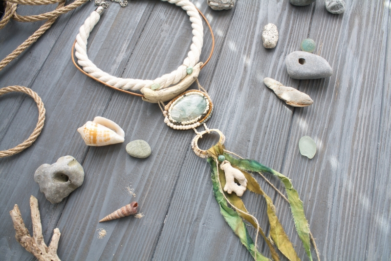 Power of Atlantic: witch jewelry, witchy necklace, sea amulet