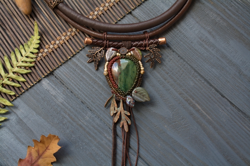 Late November: witch jewelry, witchy necklace, autumn jewelry
