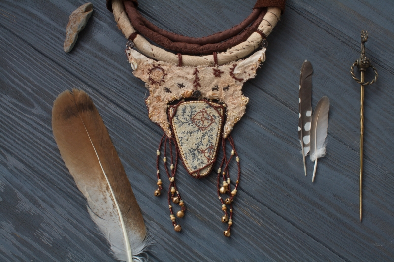 Upper World necklace: witch jewelry, ethno jewelry, witchy necklace, tribal necklace, shaman jewelry