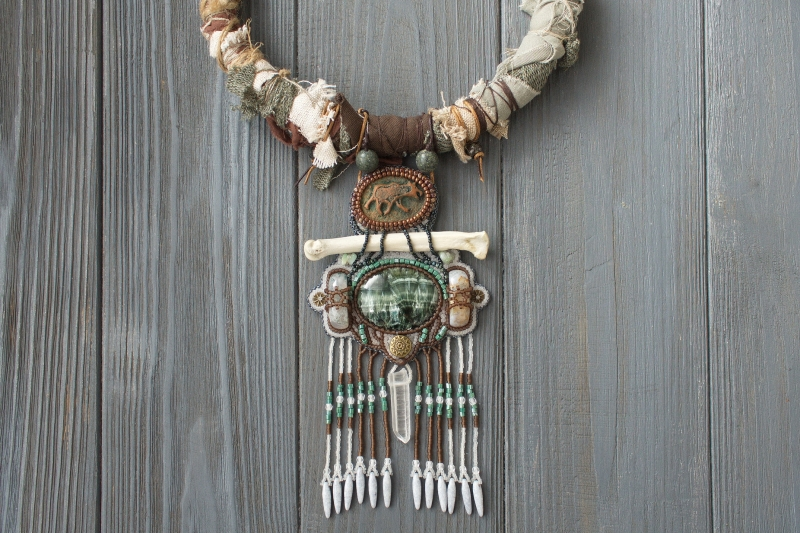 Mother Moose: witch jewelry, ethno jewelry, witchy necklace, tribal necklace, shaman jewelry, nature witch