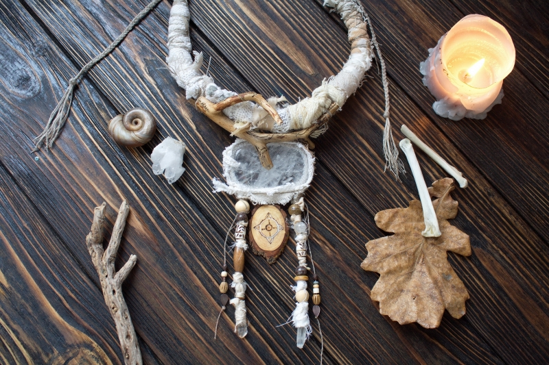 Solstice: witch jewelry, ethno jewelry, witchy necklace, tribal necklace, shaman jewelry, nature witch