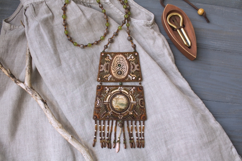 First Contact: witch jewelry, ethno jewelry, witchy necklace, tribal necklace, shaman jewelry