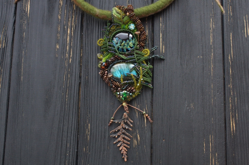 Earth Spirit  necklace: green witch, witch jewelry, earth nature jewelry, enchanted forest necklace
