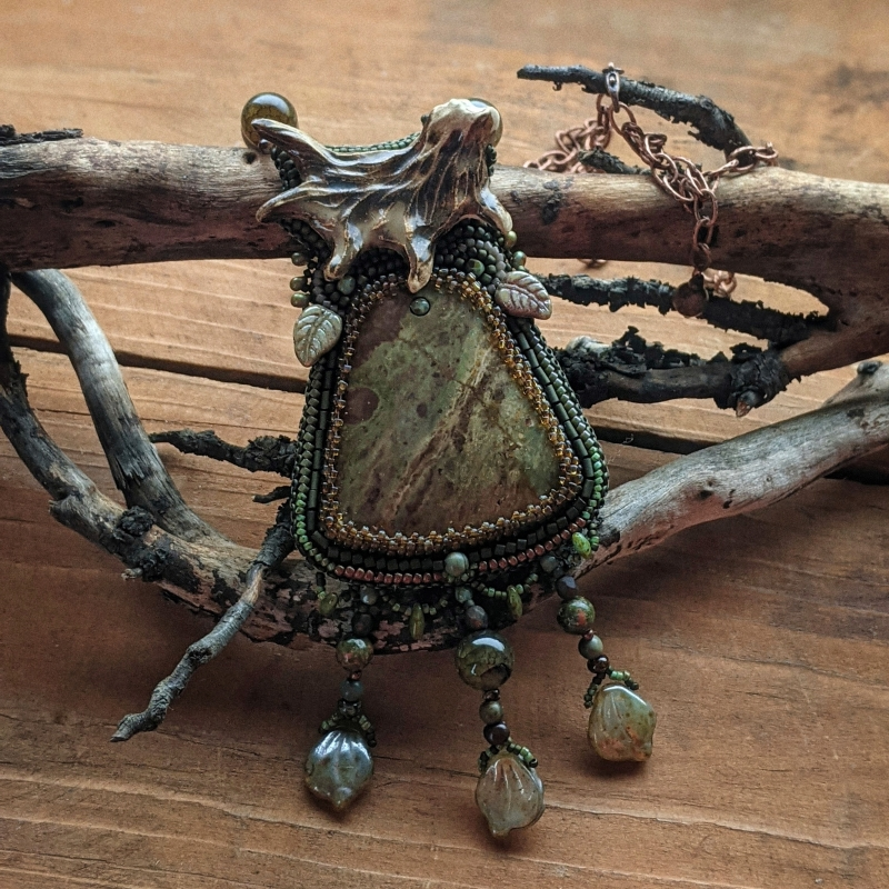 Land of the Moose: witch jewelry, ethno jewelry, witchy necklace, tribal necklace, shaman jewelry, nature witch