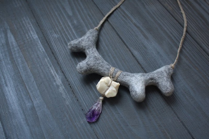 North: witch jewelry, witchy necklace, natural jewelry