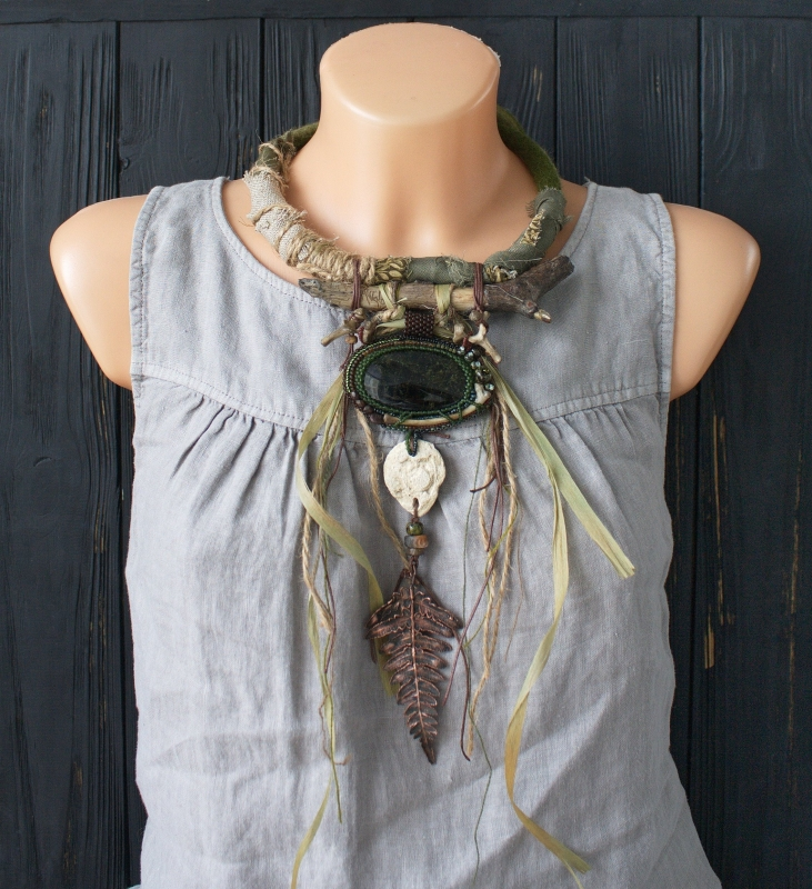Wild forest witch necklace: