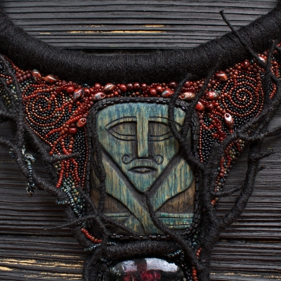 Crom Cruach the Pagan God statement necklace