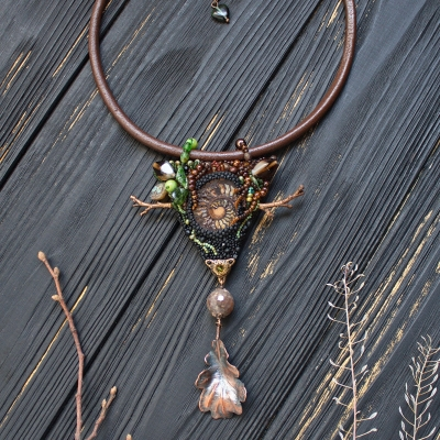 Earth element symbol necklace