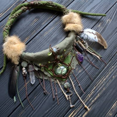 Green forest Witch necklace