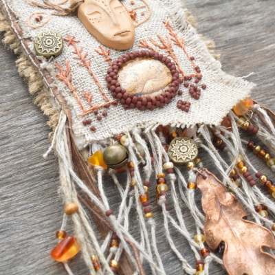 Shaman's song pouch necklace