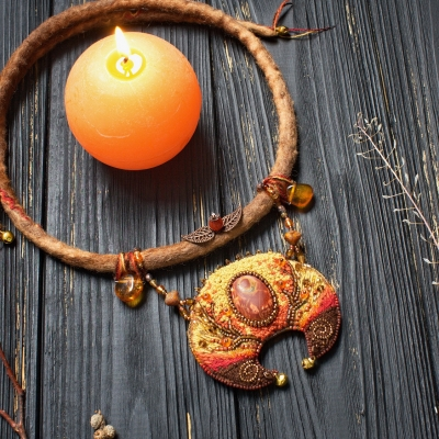 Harvest Moon witch necklace