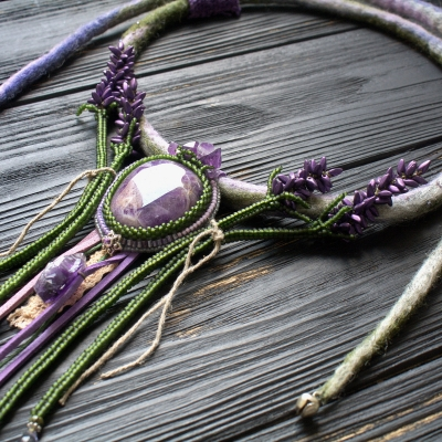 Lavender witch necklace