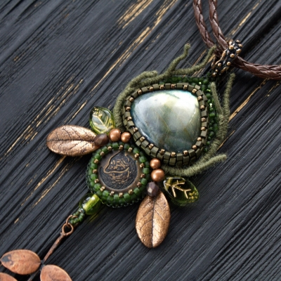 Forest Keeper green witch necklace
