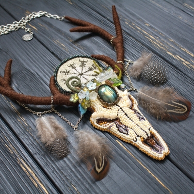 The Horned One pagan witch necklace